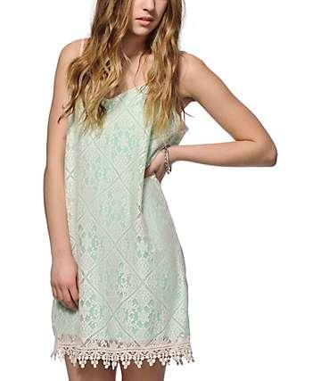 Love, Fire Abia Lace Shift Dress