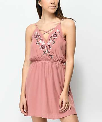 Love, Fire Alyssa vestido floral de color malva