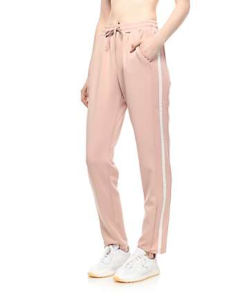 Love, Fire Light Pink Track Pants