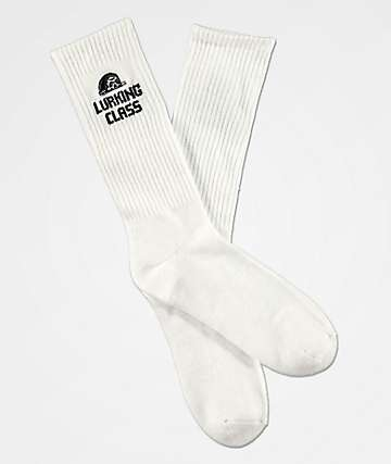 Lukring Class by Sketchy Tank White Crew Socks