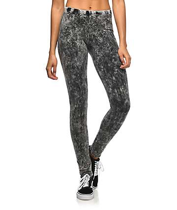 Lunachix Black Crystal Wash Leggings