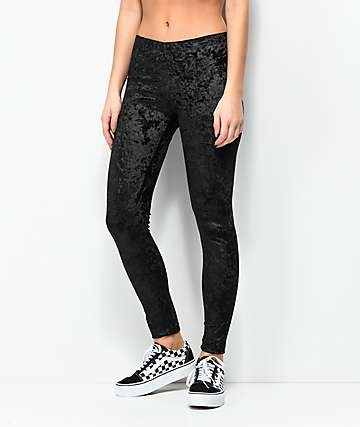 Lunachix Black Velvet Leggings
