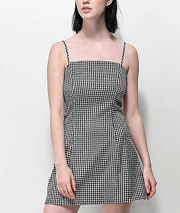 Lunachix Gingham Mini Dress
