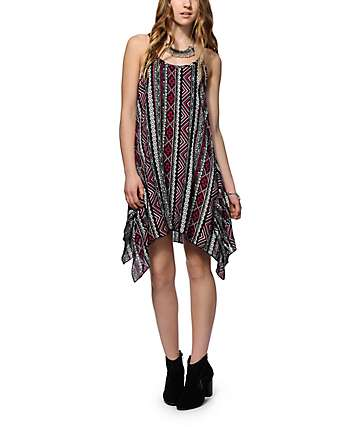 Lunachix Hanky Hem Tribal Dress