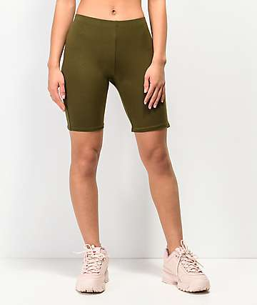 Lunachix Olive Bike Shorts