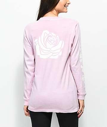 Lunachix Rose Sleeve Hit camiseta rosa de manga larga
