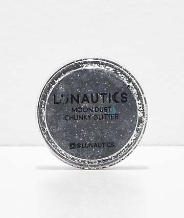 Lunautics Slick Black Chunky Glitter