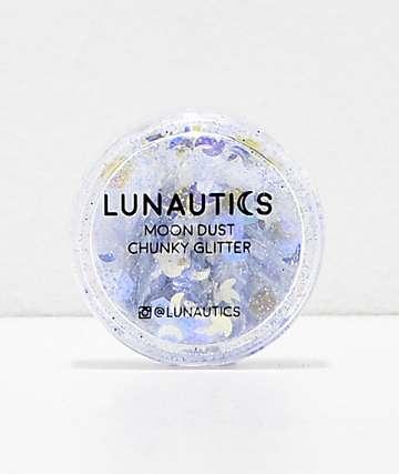 Lunautics Zenon Lavender Stars & Moons Chunky Glitter