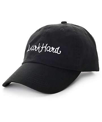 Lurk Hard Cursive Logo Black Baseball Hat