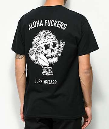 Lurking Class By Sketchy Tank Aloha Black T-Shirt