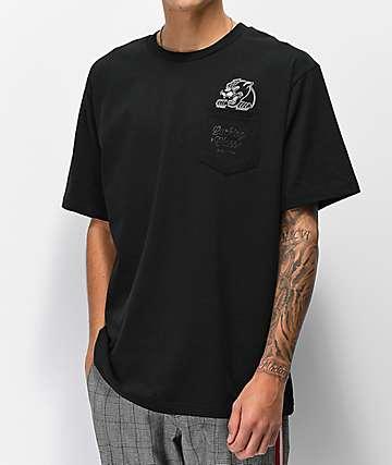 Lurking Class By Sketchy Tank Black Pocket T-Shirt