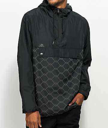 Lurking Class By Sketchy Tank Chain Link Reflective Black Anorak Jacket