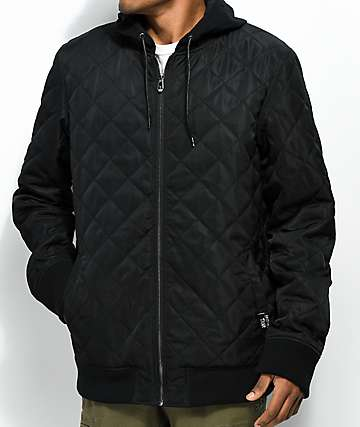 Lurking Class By Sketchy Tank Dead Summer Quilted Black Varsity Jacket