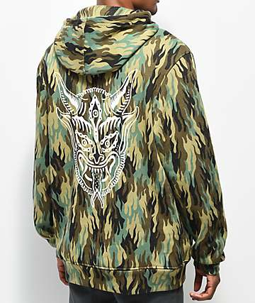 Lurking Class By Sketchy Tank Demon Fuegoflage Camo Hoodie