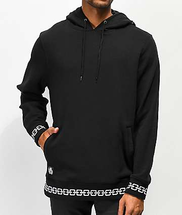 Lurking Class By Sketchy Tank Demon Hand sudadera con capucha negra