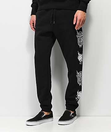 Lurking Class By Sketchy Tank Demon pantalones deportivos negro y gris