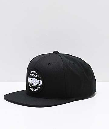 Lurking Class By Sketchy Tank Down With My Demons Black Snapback Hat 98af474c0ee