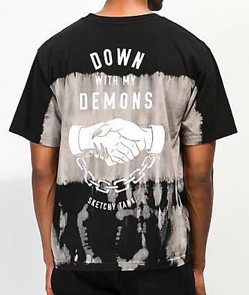 Lurking Class By Sketchy Tank Down With My Demons Tie Dye T-Shirt