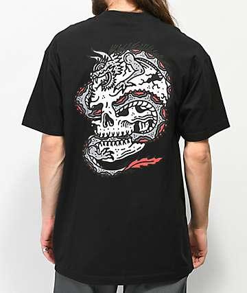 Lurking Class By Sketchy Tank Dragon camiseta negra
