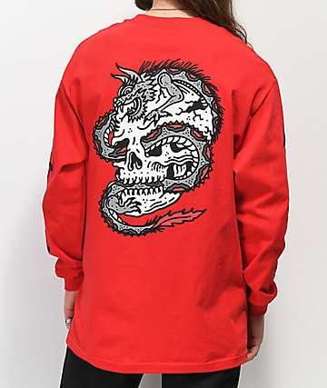 Lurking Class By Sketchy Tank Dragon camiseta roja de manga larga