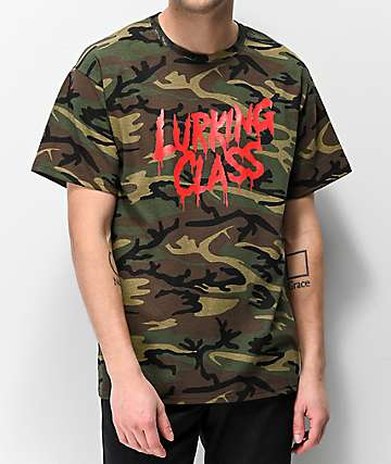 a972898cd78d Lurking Class By Sketchy Tank Drip Script Camo T-Shirt