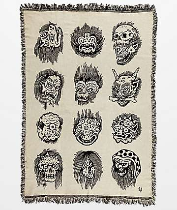 Lurking Class By Sketchy Tank Faces Blanket
