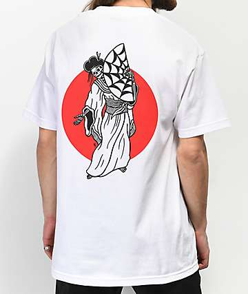 Lurking Class By Sketchy Tank Geisha White T-Shirt