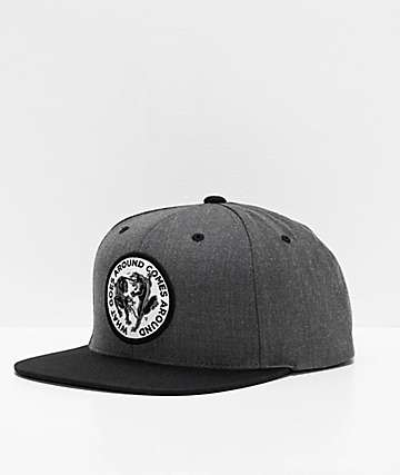 brand new ca73d c6e44 Lurking Class By Sketchy Tank Goes Around Grey   Black Snapback Hat