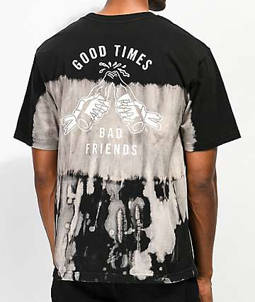 Lurking Class By Sketchy Tank Good Times Bad Friends Tie Dye T-Shirt
