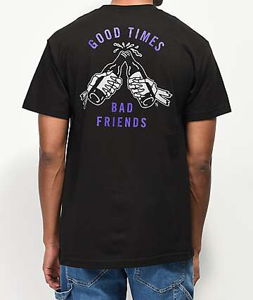 Lurking Class By Sketchy Tank Good Times Black & Purple T-Shirt