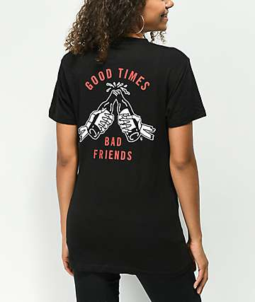 Lurking Class By Sketchy Tank Good Times Redrum Black T-Shirt