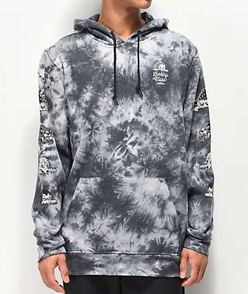 Lurking Class By Sketchy Tank Lurk Black & Grey Tie Dye Hoodie