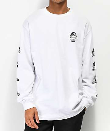 Lurking Class By Sketchy Tank Lurkers White Long Sleeve T-Shirt