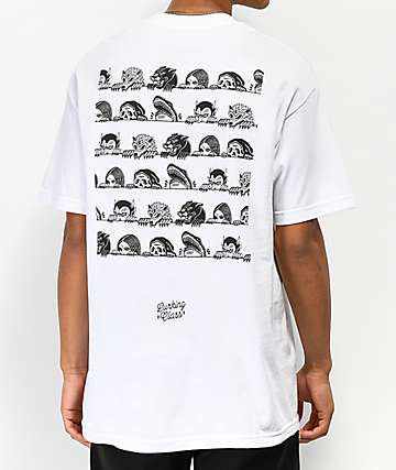 Lurking Class By Sketchy Tank Lurkers White T-Shirt