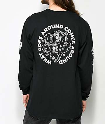 Lurking Class By Sketchy Tank Lurking Class Karma 2 Black Long Sleeve T-Shirt