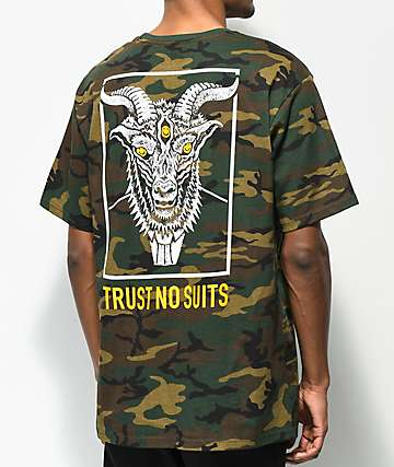 Lurking Class By Sketchy Tank Lurking Class Trust 2 Camo T-Shirt