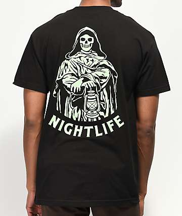 Lurking Class By Sketchy Tank Nightlife Black & Green T-Shirt