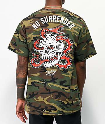 Lurking Class By Sketchy Tank No Surrender Camo T-Shirt