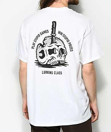 Lurking Class By Sketchy Tank Prizes camiseta blanca