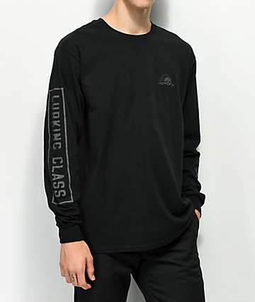 Lurking Class By Sketchy Tank Reflective Black Long Sleeve T-Shirt
