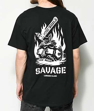Lurking Class By Sketchy Tank Savage camiseta negra