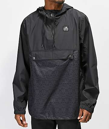 Lurking Class By Sketchy Tank Skull Black Anorak Jacket
