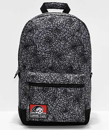 Lurking Class By Sketchy Tank Spiderweb Grey & Black Backpack