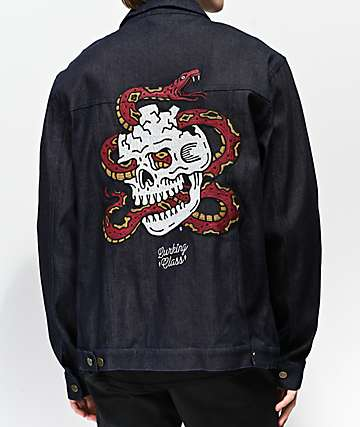Lurking Class By Sketchy Tank Surrender Dark Blue Denim Jacket