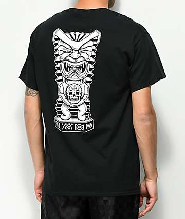 Lurking Class By Sketchy Tank Tiki Black T-Shirt