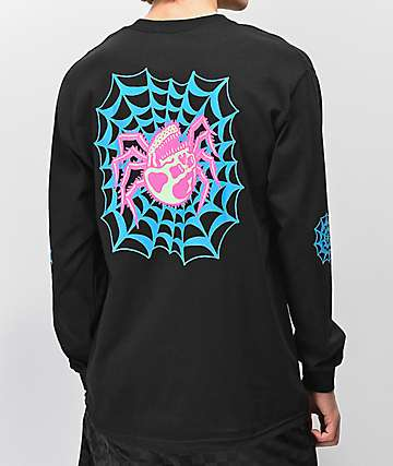 a83dba3445 Lurking Class By Sketchy Tank Web Color Black Long Sleeve T-Shirt