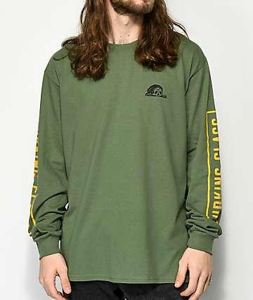 Lurking Class By Sketchy Tank camiseta de manga larga verde militar