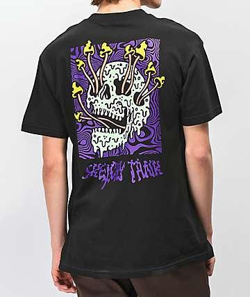 Lurking Class By Sketchy Tank camiseta negra de hongos