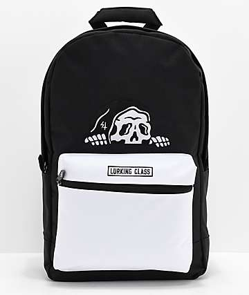 Lurking Class By Sketchy Tank mochila negra y blanca