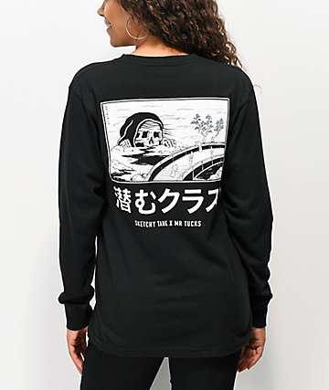 Lurking Class By Sketchy Tank x Mr. Tucks Black Long Sleeve T-Shirt